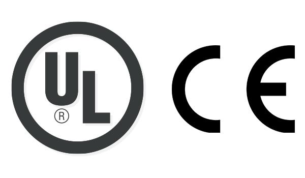 UL規格・CE対応ロゴ
